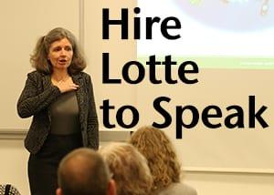 Hire Lotte to Speak